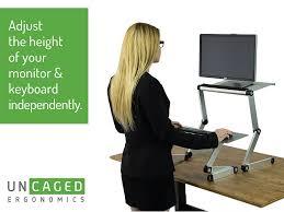 amazon workez standing desk conversion kit adjustable model 93