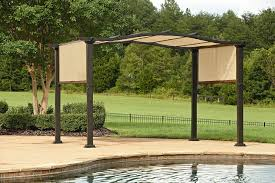 Kmart Jaclyn Smith Patio Furniture by Essential Garden Curved Pergola With Canopy Jaclyn Smith Today