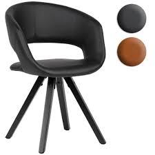 finebuy esszimmerstuhl kunstleder mit schwarzen beinen stuhl retro küchenstuhl mit lehne polsterstuhl maximalbelastbarkeit 110 kg