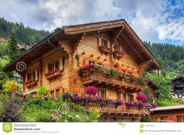 100 Log Cabins Switzerland Swiss Chalet In Summer Stock Image Image Of Historic 111017077
