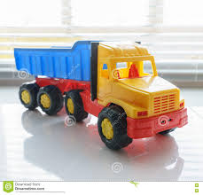 Toy Dump Truck Close Up Stock Image. Image Of Industry - 82146761