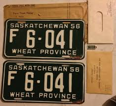 SASKATCHEWAN 1956 ---FARM TRUCK LICENSE PLATE PAIR With MA… | Flickr