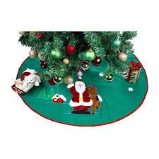 Christmas Tree Skirts X27Santa Claus Amp Reindeerx27 Green Polyester 36