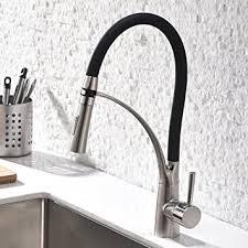 gd wasserhahn küche schwarz küchenarmatur gebürstetes nickel mit brause küchen armatur