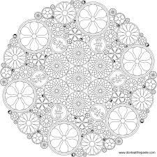 Difficult Level Mandala Coloring Pages Really Intricate Flower To Color