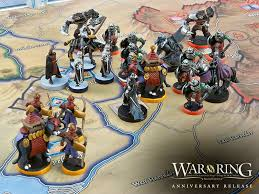 War Of The Ring Anniversary Release Production Miniatures On Second Edition Board
