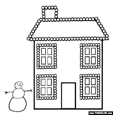 Xmas Christmas Lights Online Coloring Page