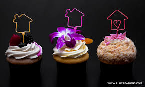 Cupcake Toppers House Housewarming Party Decor Viewing Real Estate