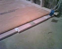 Floating Floor Underlayment Basement by Floating Plywood Floor On Rigid Foam Insulation On Concrete