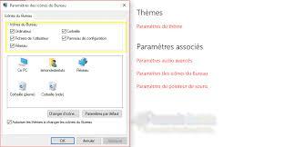 ajouter les icônes système du bureau sous windows 10