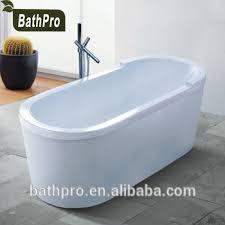 india freestanding small size oval shaped acrylic soaking portable