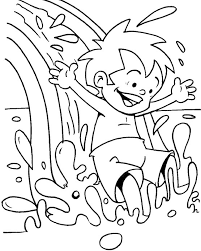 Water Park Coloring Page