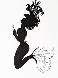 Ariel Flounder Pumpkin Stencil by Ariel Silhouette Art By Hoshino Libra Silhouette Pinterest