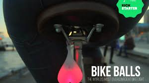 100 Balls Hanging From Truck Bike Bicycle Light By The Bike Team Kickstarter