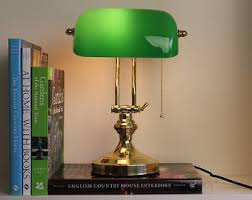 Antique Bankers Lamp Green by Brass Bankers Lamp Etsy