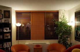 Wood Blinds Living Room NYC NY City Blinds