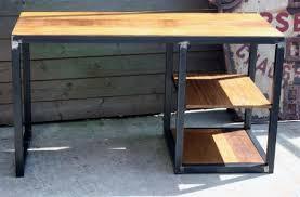 fabrication d un bureau en bois création meuble industriel bois mètal sur mesure