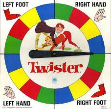 Original Milton Bradley Twister Board Game Spinner