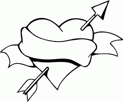 Hearts With Wings Coloring Page Printable Book Sheet