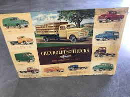 100 Chevy Truck Dealer Original 1954 And 1964 New Truck Dealer Posters Collectors