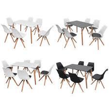 details zu vidaxl essgruppe sitzgruppe esszimmer tisch stühle esstischset mehrere auswahl