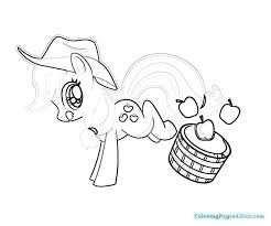 Applejack Coloring Pages My Little Pony And Rainbow Dash Mlp