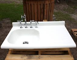 Utility Sink With Drainboard Freestanding by Kitchen Enchanting Image Of White Ceramic Kitchen Drainboard Farm
