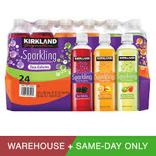 Kirkland Signature Flavored Sparkling Water Variety 17 Oz Bottle 24 Count