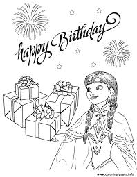 Anna From Frozen Movie And Gifts Colouring Page Coloring Pages Print Download