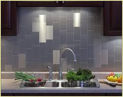 Glass And Metal Tile Backsplash