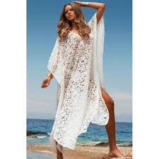 lace butterfly beach pool side cover up dress white