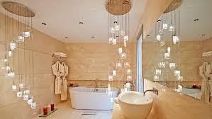 Modern Chandelier Over Bathtub by Creative Of Chandelier For Bathroom Chandelier Over Tub Home