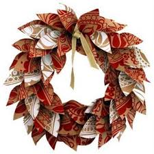 Paper Christmas Wreath Simple Craft