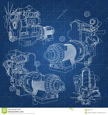100 Big Truck Paper A Diesel Engine With The Depicted In The Contour Lines On