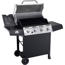 Patio Bistro Gas Grill Home Depot by Char Broil 4 Burner Gas Grill Stainless Steel Black Walmart Com