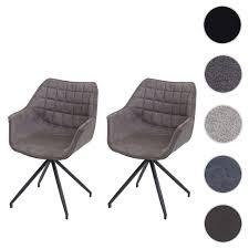 2x esszimmerstuhl hwc h44 küchenstuhl stuhl drehbar auto position metall stoff textil vintage braun fuß schwarz