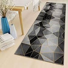 lyyk teppich läufer meterware waschbare rutschfest geometrische muster lauferteppich flur für wohnzimmer schlafzimmer küche flur brücke 50x120cm