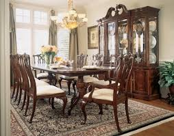 American Drew Dining Table With Eight Chairs