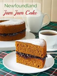 Newfoundland Jam Jam Cake with title text