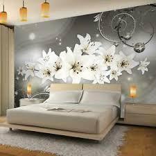 details zu fototapete blumen lilie vliestapete schwarz weiss wohnzimmer schlafzimmer modern