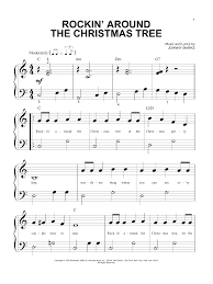Rockin Around The Christmas Tree Piano Chords by Sheet Music Digital Files To Print Licensed Big Note Piano