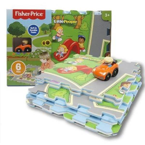 Fisher Price Little People 6-Piece Mega Floor Mat with Vehicle Multi