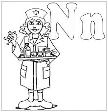 Good Nurse Coloring Pages 41 In Free Kids With