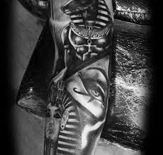 Egyptian Ankh And Eye Pyramid Tattoos On Back In 2017 Real Photo