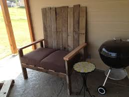 making garden furniture from reclaimed wood self made chair made