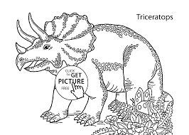 Download Coloring Pages Triceratops Page Dinosaurs Printable Gallery