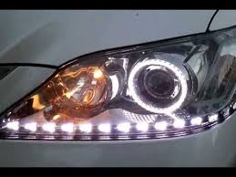 intothecar customized headlights daytime running es350