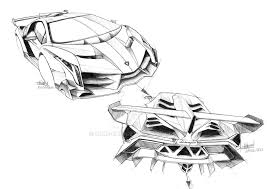 Holiday Coloring Pages Lamborghini Aventador Veneno Sketch By Blue Raie On