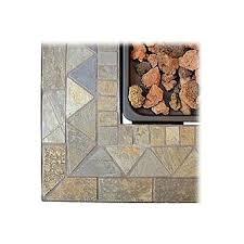 uniflame gad1429sp lp gas outdoor firebowl with slate tile mantel