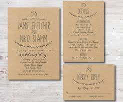 Rustic Wedding Invitation RSVP Details Card By SimplyFetchingPaper 4000